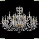 1402/10+5/300/G Хрустальная подвесная люстра Bohemia Ivele Crystal