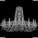 1402/18/400/Ni Хрустальная подвесная люстра Bohemia Ivele Crystal