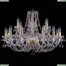 1406/12+6/300/G/Balls Хрустальная подвесная люстра Bohemia Ivele Crystal (Богемия)