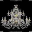 1402/12+6/360-80/2d/G Хрустальная подвесная люстра Bohemia Ivele Crystal