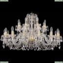 1402/16+8/360/G Хрустальная подвесная люстра Bohemia Ivele Crystal