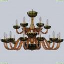 1308/12+6/360/2d G Am/Amber-Green/H-1J Хрустальная люстра Bohemia Ivele Crystal (Богемия), 1308