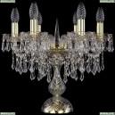 1403L/6/141-39/G Хрустальная настольная лампа Bohemia Ivele Crystal (Богемия), 1403