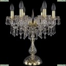 1403L/6/141-47/G Хрустальная настольная лампа Bohemia Ivele Crystal (Богемия), 1403