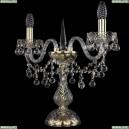 1409L/2/141-39/G Хрустальная настольная лампа Bohemia Ivele Crystal (Богемия), 1409