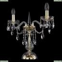 1415L/2/141-39/G Хрустальная настольная лампа Bohemia Ivele Crystal (Богемия), 1415