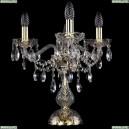 1415L/3/141-39/G Хрустальная настольная лампа Bohemia Ivele Crystal (Богемия), 1415