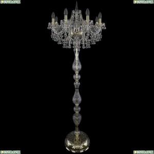 1409T1/8/195-160/G Торшер Bohemia Ivele Crystal (Богемия), 1409