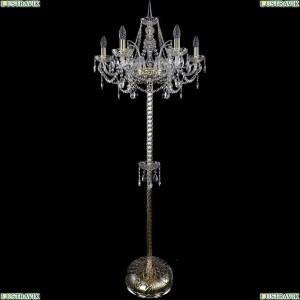 1411T2/6/195-165/G Торшер Bohemia Ivele Crystal (Богемия), 1411