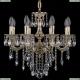 1702/8/175/B/GW Хрустальная подвесная люстра Bohemia Ivele Crystal (Богемия), 1701