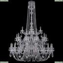 1402/20+10+5/400/h-158/3d/Ni Хрустальная подвесная люстра Bohemia Ivele Crystal (Богемия), 1402