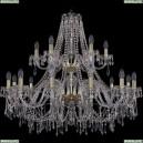 1403/12+6/360/2d/G Хрустальная подвесная люстра Bohemia Ivele Crystal