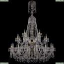 1403/16+8+4/400/XL-163/2d/G Хрустальная подвесная люстра Bohemia Ivele Crystal