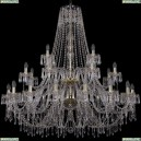 1403/16+8+4/460/2d/G Хрустальная подвесная люстра Bohemia Ivele Crystal (Богемия), 1403