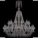 1403/24+12/530/XL-160/G Хрустальная подвесная люстра Bohemia Ivele Crystal