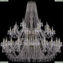 1403/24+12+6/530/2d/G Хрустальная подвесная люстра Bohemia Ivele Crystal (Богемия), 1403
