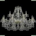 1409/10+5/360/G Хрустальная подвесная люстра Bohemia Ivele Crystal (Богемия), 1409