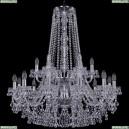 1409/12+6/300/h-94/2d/Ni Хрустальная подвесная люстра Bohemia Ivele Crystal (Богемия), 1409