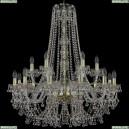 1409/12+6/300/h-95/G Хрустальная подвесная люстра Bohemia Ivele Crystal (Богемия), 1409