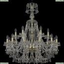 1409/12+6/300/XL-95/G Хрустальная подвесная люстра Bohemia Ivele Crystal (Богемия), 1409