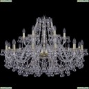 1409/12+6/360/G Хрустальная подвесная люстра Bohemia Ivele Crystal (Богемия), 1409