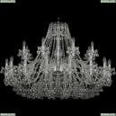 1409/16+8/460/Ni Хрустальная подвесная люстра Bohemia Ivele Crystal (Богемия), 1409
