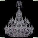 1409/20+10+5/400/XL-152/2d/Ni Хрустальная подвесная люстра Bohemia Ivele Crystal (Богемия), 1409