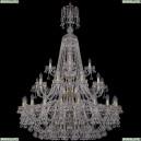 1409/20+10+5/400/XL-159/3d/G Хрустальная подвесная люстра Bohemia Ivele Crystal (Богемия), 1409