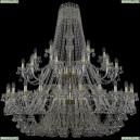 1409/24+12+6/530/2d/G Хрустальная подвесная люстра Bohemia Ivele Crystal (Богемия), 1409