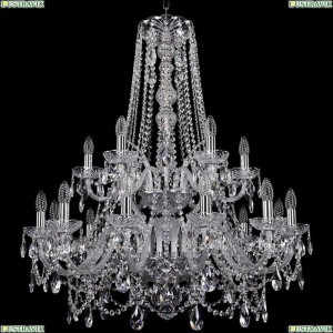 1411/12+6/300/h-93/2d/Ni Подвесная люстра Bohemia Ivele Crystal (Богемия), 1411