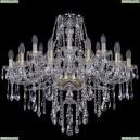 1415/12+6/300/G Хрустальная подвесная люстра Bohemia Ivele Crystal (Богемия), 1415