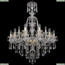 1415/12+6/300/XL-108/G Хрустальная подвесная люстра Bohemia Ivele Crystal (Богемия), 1415