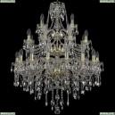 1415/16+8+4/300/3d/G Хрустальная подвесная люстра Bohemia Ivele Crystal (Богемия), 1415
