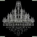 1415/24+12+6/530/Ni Хрустальная подвесная люстра Bohemia Ivele Crystal (Богемия), 1415