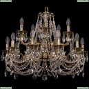 1722/10+5/250/C/GB Хрустальная подвесная люстра Bohemia Ivele Crystal