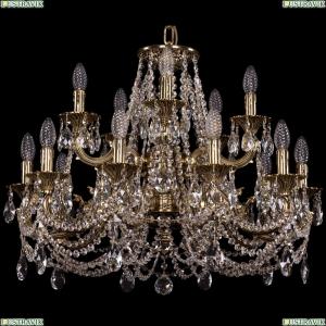 1722/10+5/250/C/GB Хрустальная подвесная люстра Bohemia Ivele Crystal (Богемия), 1722