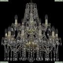 1413/10+5/220/2d/G Подвесная люстра Bohemia Ivele Crystal (Богемия), 1413