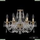 16106/6/165 G Хрустальная подвесная люстра с металлической чашкой Bohemia Ivele Crystal (Богемия), 1606
