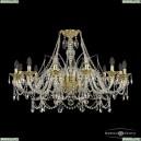 16111/12/360 G Хрустальная подвесная люстра с металлической чашкой Bohemia Ivele Crystal (Богемия), 1611