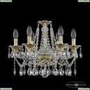 16113/6/165 G Хрустальная подвесная люстра с металлической чашкой Bohemia Ivele Crystal (Богемия), 1613