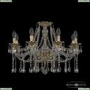 16113/8/240 G Хрустальная подвесная люстра с металлической чашкой Bohemia Ivele Crystal (Богемия), 1613
