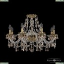 16103/8/240 FP K721 Хрустальная подвесная люстра с металлической чашкой Bohemia Ivele Crystal (Богемия), 1603