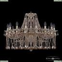 16113/16/300 GW M721 Хрустальная подвесная люстра с металлической чашкой Bohemia Ivele Crystal (Богемия), 1613