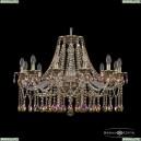 16113/12/300 GB R777 Хрустальная подвесная люстра с металлической чашкой Bohemia Ivele Crystal (Богемия), 1613