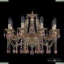 16113/8/200 G M777 Хрустальная подвесная люстра с металлической чашкой Bohemia Ivele Crystal (Богемия), 1613