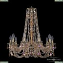 16106/10/240/h-75 G M777 Хрустальная подвесная люстра с металлической чашкой Bohemia Ivele Crystal (Богемия), 1606