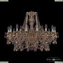 16111/16/300 G M777 Хрустальная подвесная люстра с металлической чашкой Bohemia Ivele Crystal (Богемия), 1611
