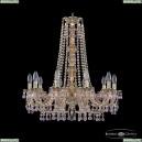 16110/10/240/h-75 G V7010 M777 Хрустальная подвесная люстра с металлической чашкой Bohemia Ivele Crystal (Богемия), 1610