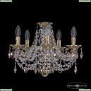 16106/5/141 FP K801 Хрустальная подвесная люстра с металлической чашкой Bohemia Ivele Crystal (Богемия), 1606