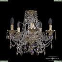 16111/5/141 G K801 Хрустальная подвесная люстра с металлической чашкой Bohemia Ivele Crystal (Богемия), 1611